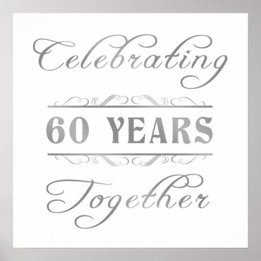 Celebrando 60 años de junto póster