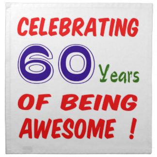 ¡Celebrando 60 años de ser impresionante! Servilletas