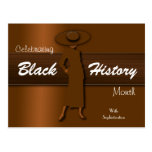 Celebrando el mes negro de la historia (postal)