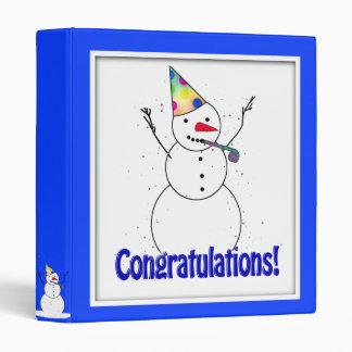 ¡Celebrando el muñeco de nieve ENHORABUENA