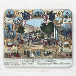 Celebrando la décimo quinta enmienda - 1870 - mouse pad