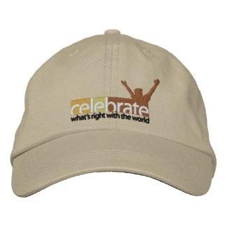 Celebrar-Whats-Derecho-ninguna línea de corte Gorras De Béisbol Bordadas