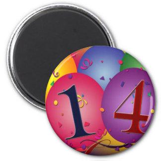 Celebrate 14th Birthday 2 Inch Round Magnet
