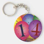 Celebrate 14th Birthday Key Chains