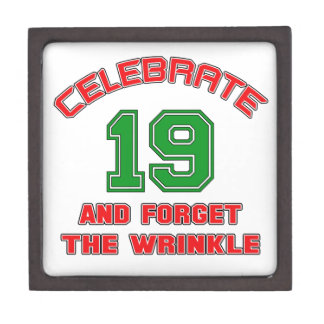 Celebrate 19 and forget the wrinkle gift box