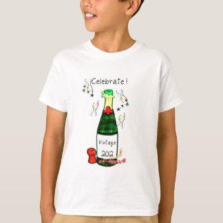 CELEBRATE! 2012 CHAMPAGNE BOTTLE PRINT T-Shirt