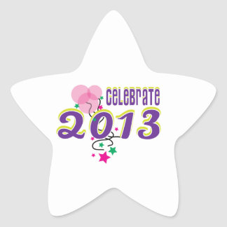 Celebrate 2013 star stickers