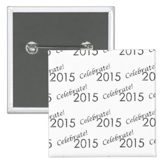 Celebrate 2015 New Year's Silver on White Pins