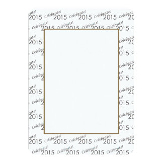 Celebrate 2015 New Year's Silver on White Card