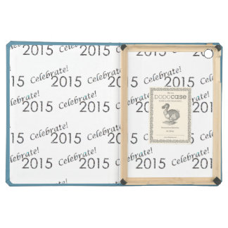 Celebrate 2015 New Year's Silver on White Cover For iPad Air