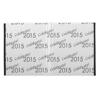 Celebrate 2015 New Year's Silver on White iPad Folio Cover