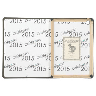 Celebrate 2015 New Year's Silver on White iPad Air Case