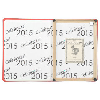 Celebrate 2015 New Year's Silver on White iPad Air Cover