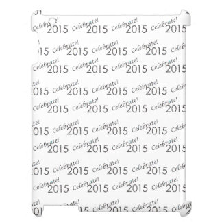 Celebrate 2015 New Year's Silver on White Cover For The iPad