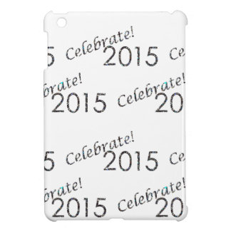 Celebrate 2015 New Year's Silver on White iPad Mini Covers