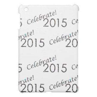 Celebrate 2015 New Year's Silver on White iPad Mini Cases
