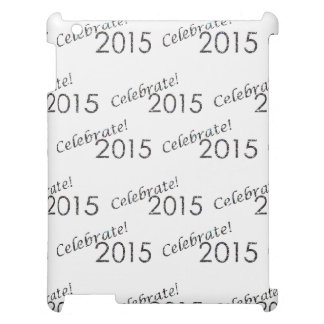 Celebrate 2015 New Year's Silver on White Case For The iPad
