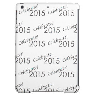 Celebrate 2015 New Year's Silver on White iPad Air Cases