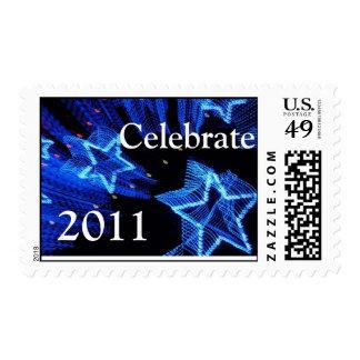 Celebrate 20XX postage Stamp Template