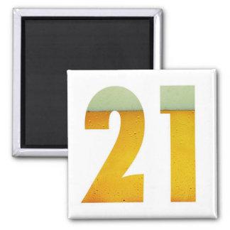 Celebrate 21st Birthday 2 Inch Square Magnet