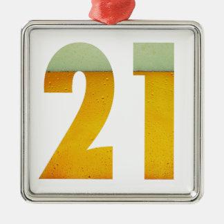 Celebrate 21st Birthday Metal Ornament