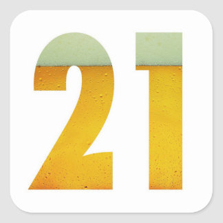 Celebrate 21st Birthday Square Sticker