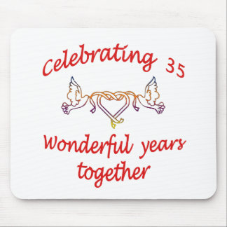 CELEBRATE 35 YEARS TOGETHER MOUSE PAD