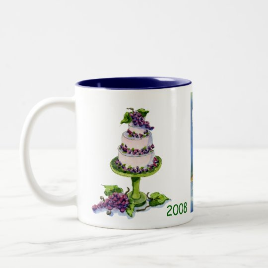 celebrate 50 on the vineyard 2008 Two-Tone coffee mug