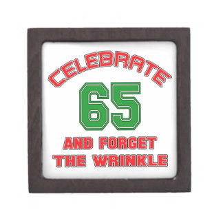 Celebrate 65 and forget the wrinkle jewelry box
