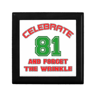 Celebrate 81 and forget the wrinkle gift box