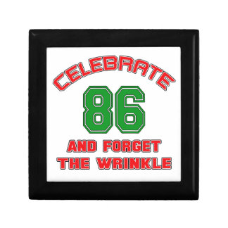 Celebrate 86 and forget the wrinkle gift box