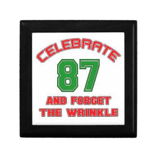 Celebrate 87 and forget the wrinkle keepsake box
