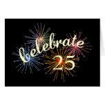 Celebrate a 25th Anniversary Card