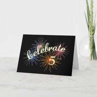 Celebrate a 5th Anniversary Card