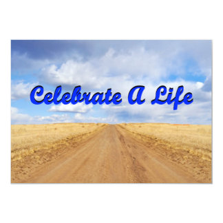 Celebrate A Life (Road Into Field Clouds Into Sky) Card