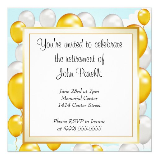 Retirement Party Invitations Templates