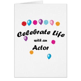 Celebrate Actor Card
