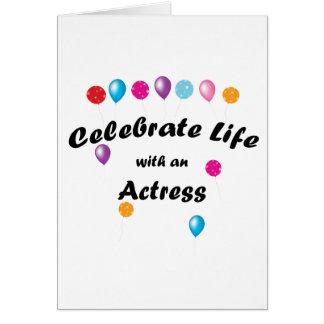 Celebrate Actress Card