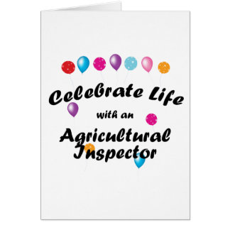 Celebrate Agricultural Inspector Greeting Card