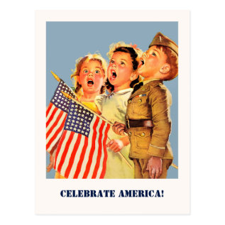 Celebrate America, 4th Of July Postcards at Zazzle