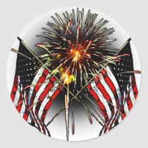 Celebrate America Classic Round Sticker