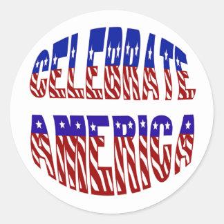 Celebrate America Flag Font #1 Stickers