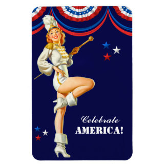 Celebrate America. Vintage Pin-Up Gift Magnets