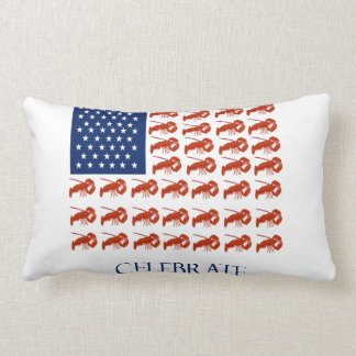Celebrate American Flag Lobster Pillow