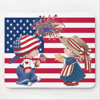 Celebrate American Flag Mouse Pad