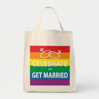 Celebrate and Get Married Tote Bag
