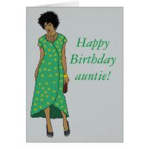 Celebrate auntie card