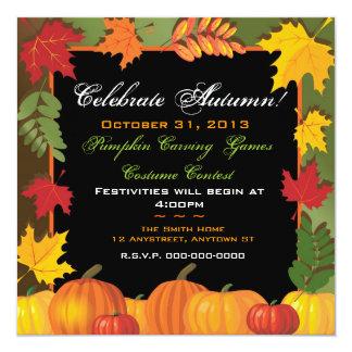 Celebrate Autumn Invitation