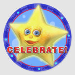 CELEBRATE! Birthday Stickers with Twinkles
