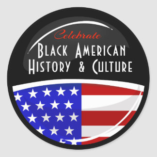 Celebrate Black American History Glossy Emblem Classic Round Sticker